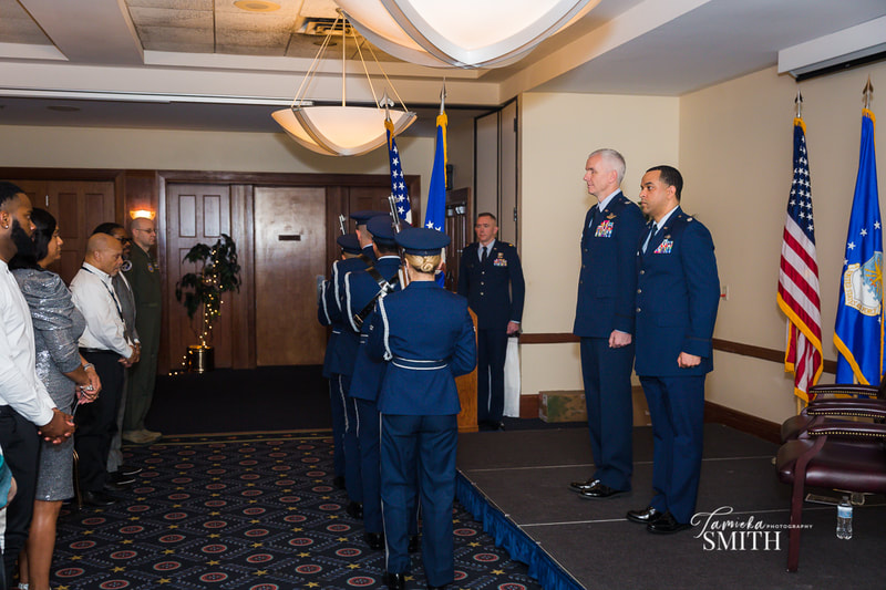 Arrival of colors for retirement ceremony at Andrews AFB, MD