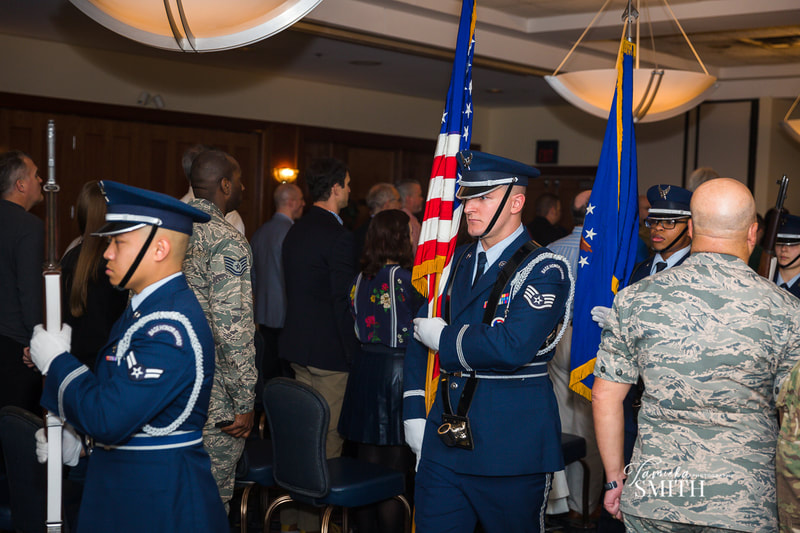 Arrival of American Flag at Retirement Ceremony at Andrews AFB, Maryland