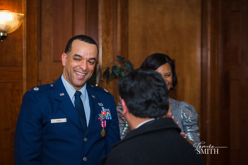 Laughs at Retirement Ceremony at Andrews AFB.