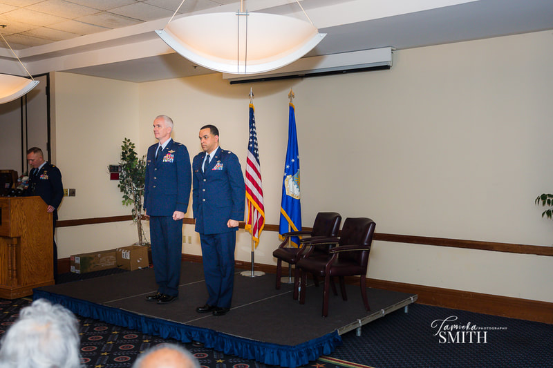 Standing at attention at Retirement Ceremony at Andrews AFB in Maryland