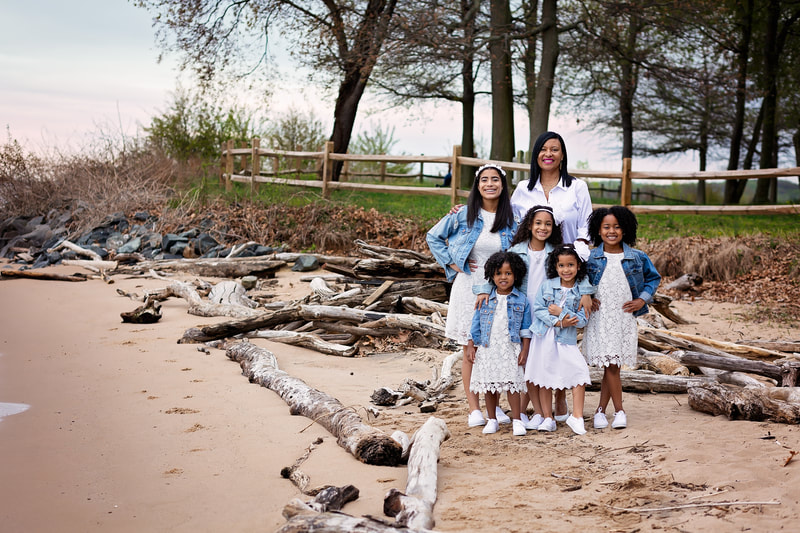 Beach portrait with Woodbridge Family Photographer