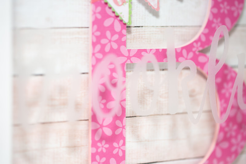 Newborn Girl ShadowBox  - Close-up