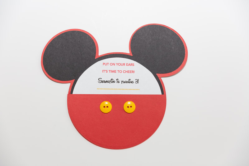 Custom Designed Mickey Mouse Birthday Card