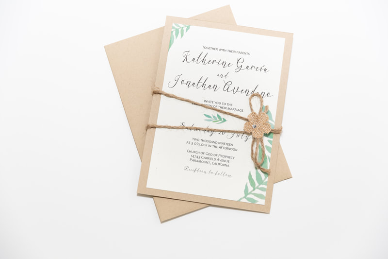 Custom Designed Wedding Card by Northern Virginia Designer