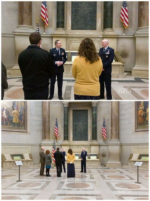 Military Ceremony at The National Archives Museum in Washington DC
