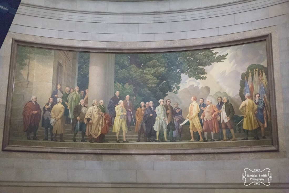 Mural in National Archives Museum in Washington DC