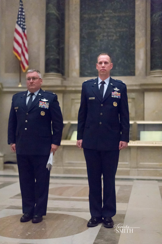 Air Force Officers in National Archives Museum
