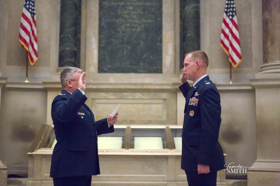 Air Force Officer administered the Oath of Office in the National Archives Museum