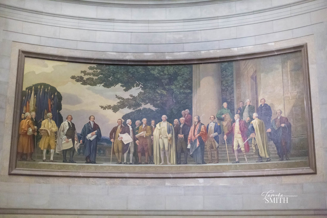 Mural inside the National Archives Museum, Tamieka Smith Photography