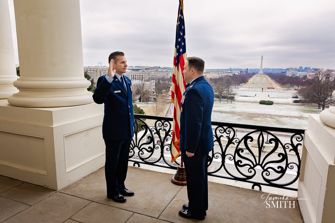 Los Angeles Photographer in Washington DC for an Air Force Promotion Ceremony