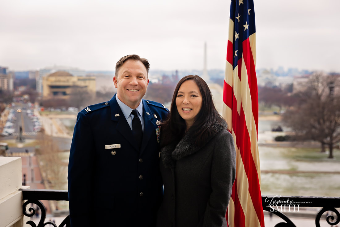 Air Force promotion ceremony at the United States Capitol in Washington DC