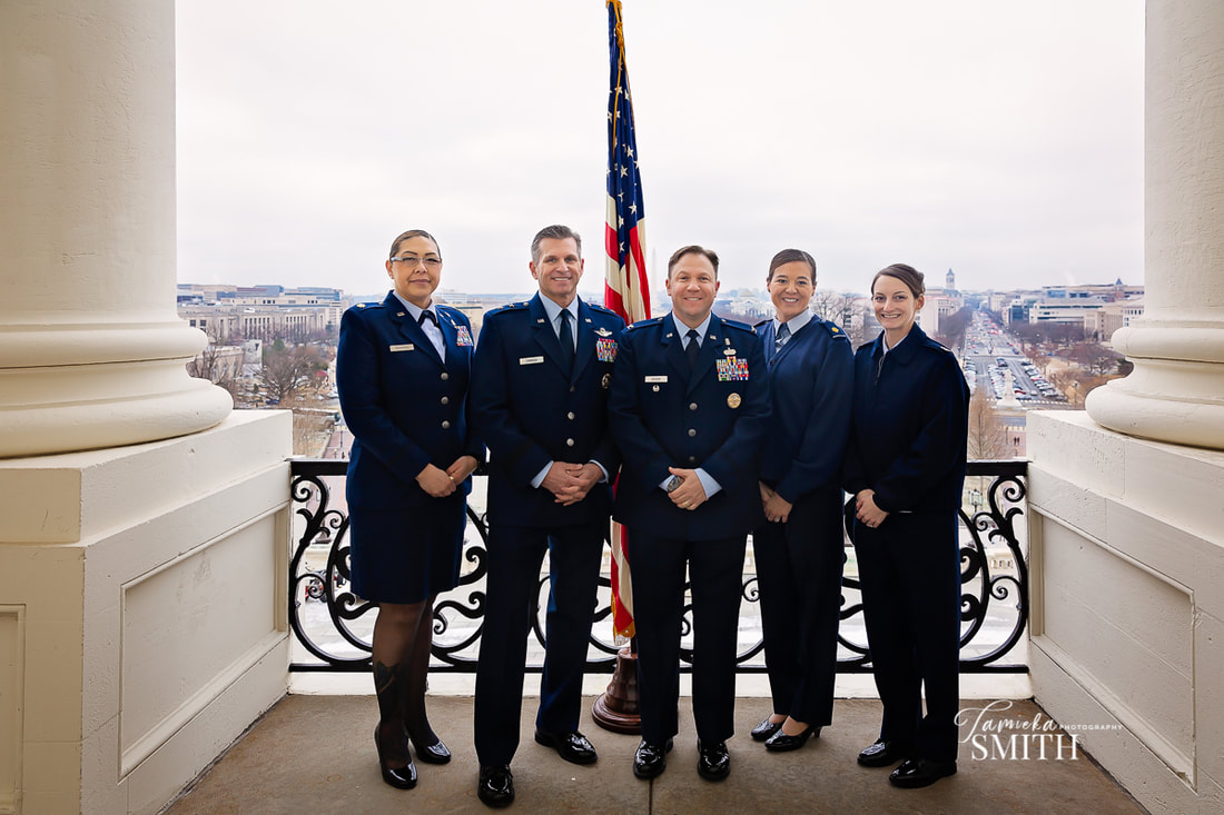 Air Force Promotion ceremony at the United States Capitol by Northern Virginia Photographer