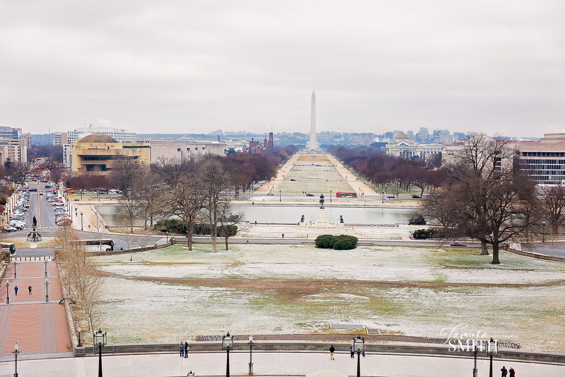Balcony overlooking the National Mall in Washington DC