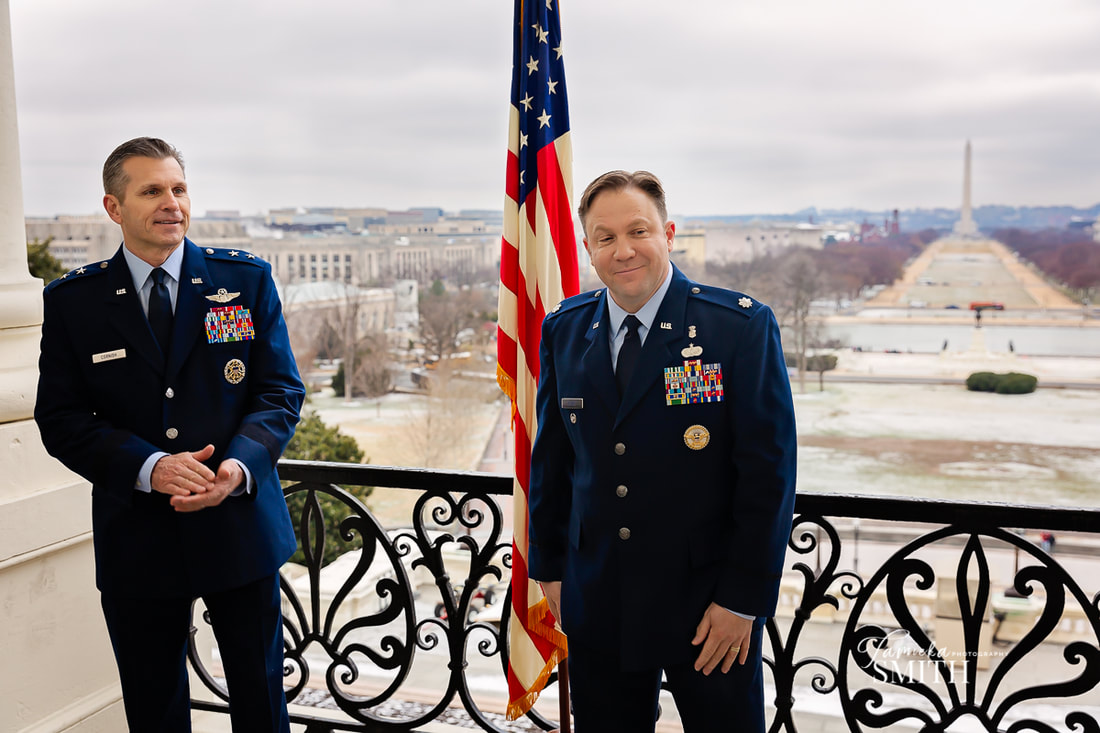 Northern Virginia Photographer in Washington DC for a military promotion ceremony at the US Capitol