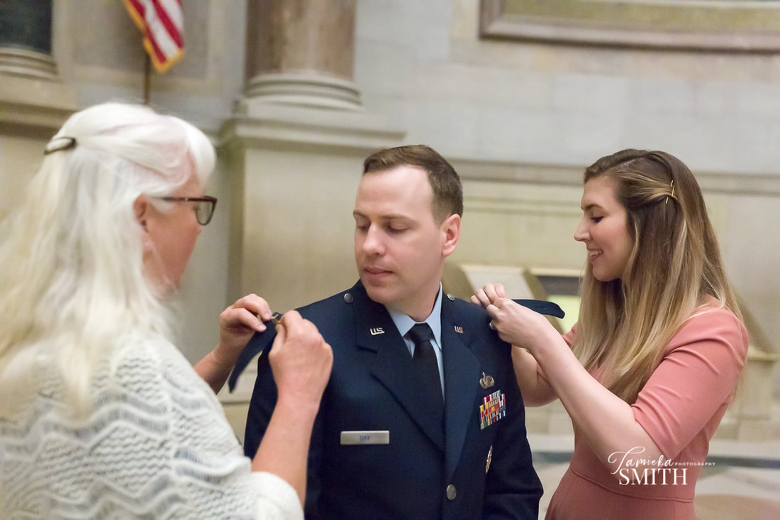 Captain Promotion ceremony at the National Archives in Washington DC