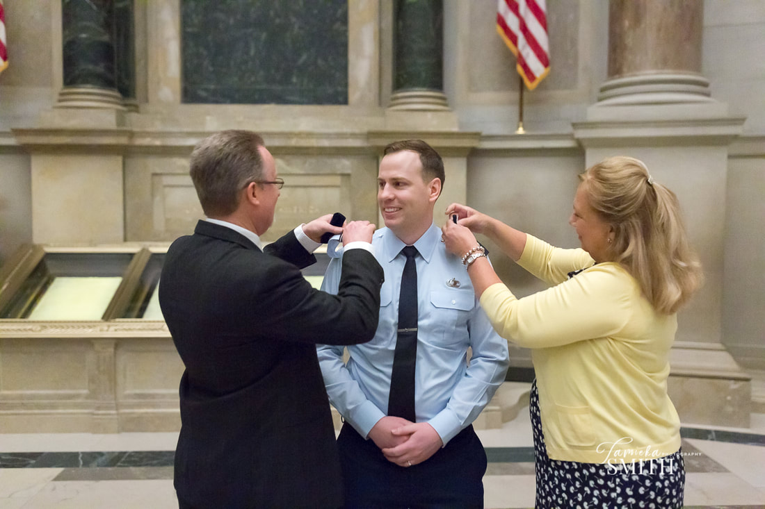 Air Force Officer promotion ceremony at The National Archives Museum in Washington DC - Tamieka Smith Photography